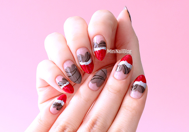Heart Chocolate Nails