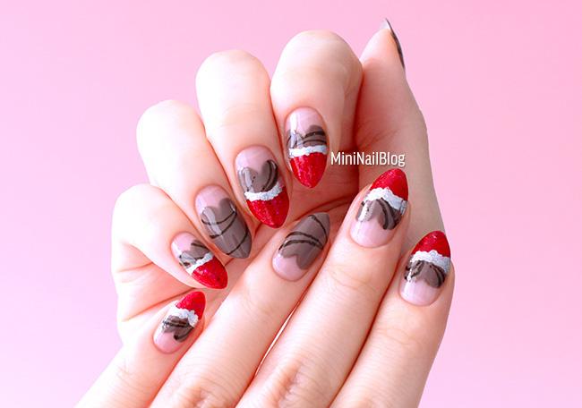Heart Chocolate Nails