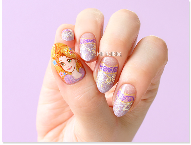 Rapunzel Nail Art