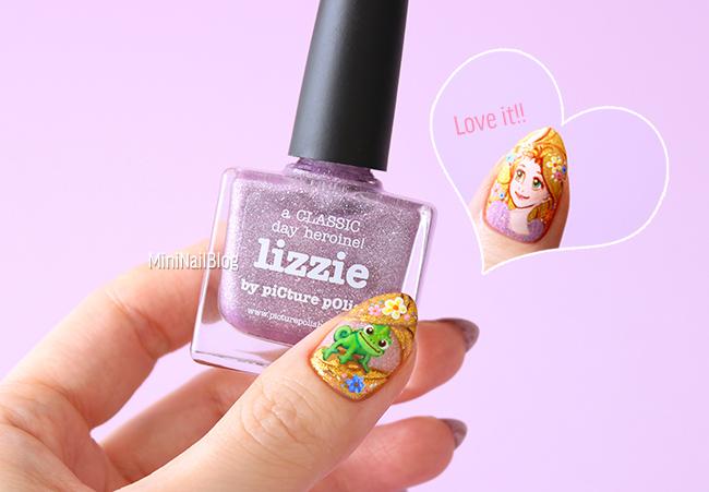 Rapunzel Pascal Nail Art
