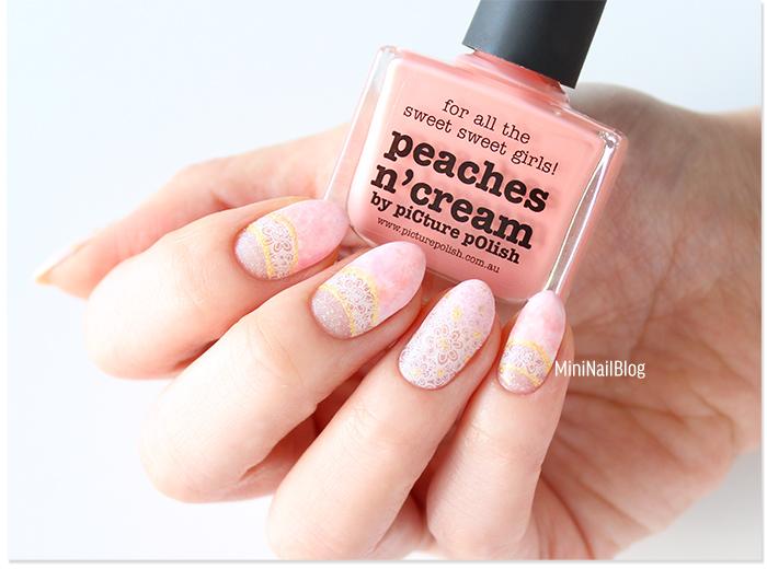 Pink Half Moon Nail Art