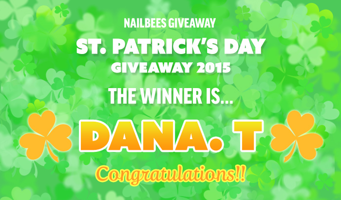 St. Patrick's Day Giveaway 2015 Winner