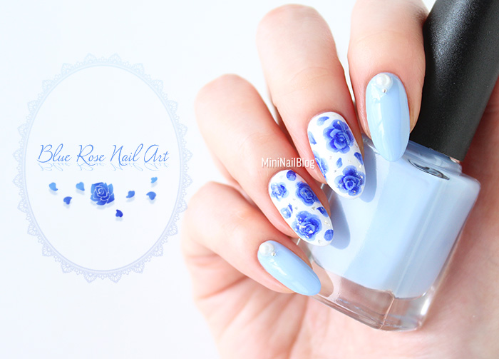 Blue Rose Nail Art Nailbees