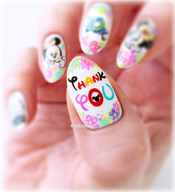 Disney Nail Art Thank You