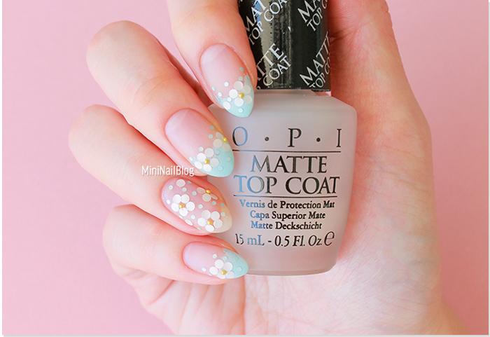 Glitter Flower Nail Art
