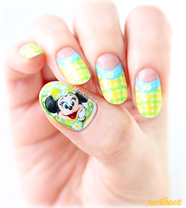 Spring Minnie Mouse Nail Art Nailbees