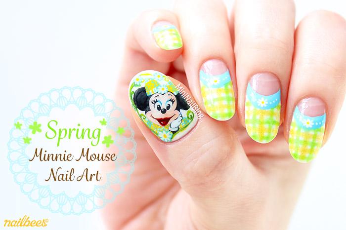 Spring Minnie Mouse Nail Art Nailbees