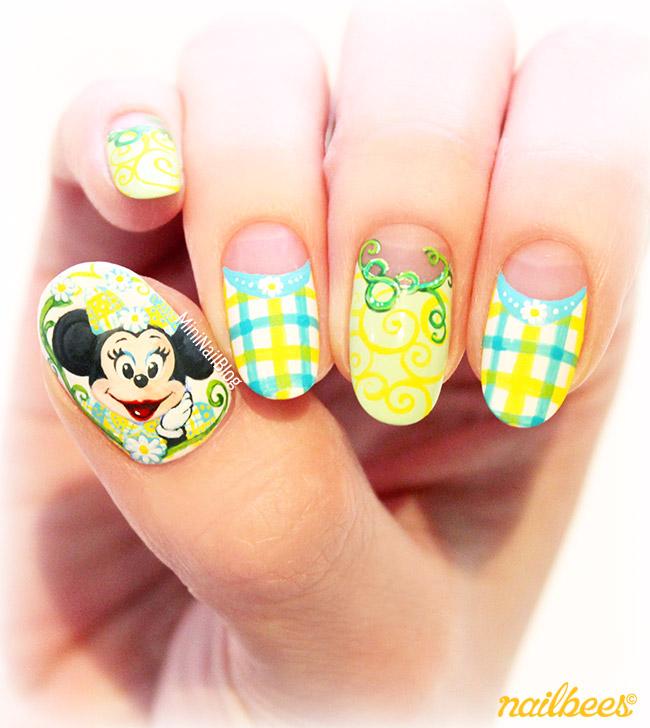 Spring Minnie Nail Art - Spring Minnie Mouse Nail Art Nailbees