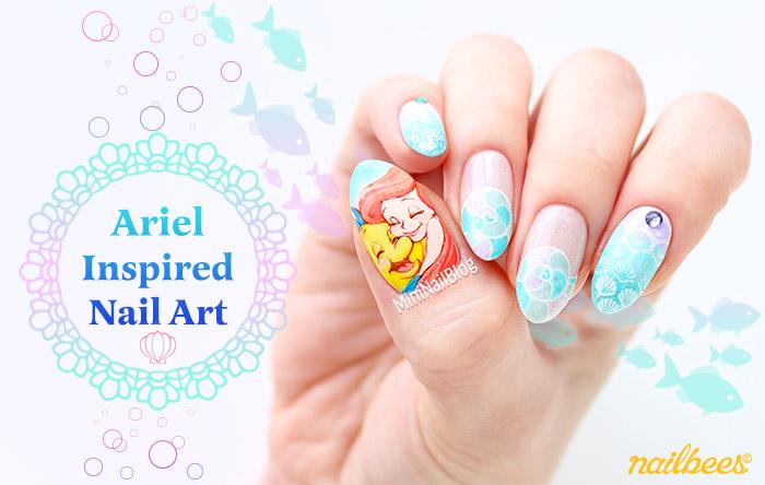 Ariel Inspired Nail Art
