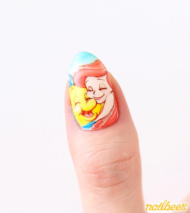 Nail Art Tutorial Nautical Nail Art Using Cuccio: Ariel Inspired Nail Art