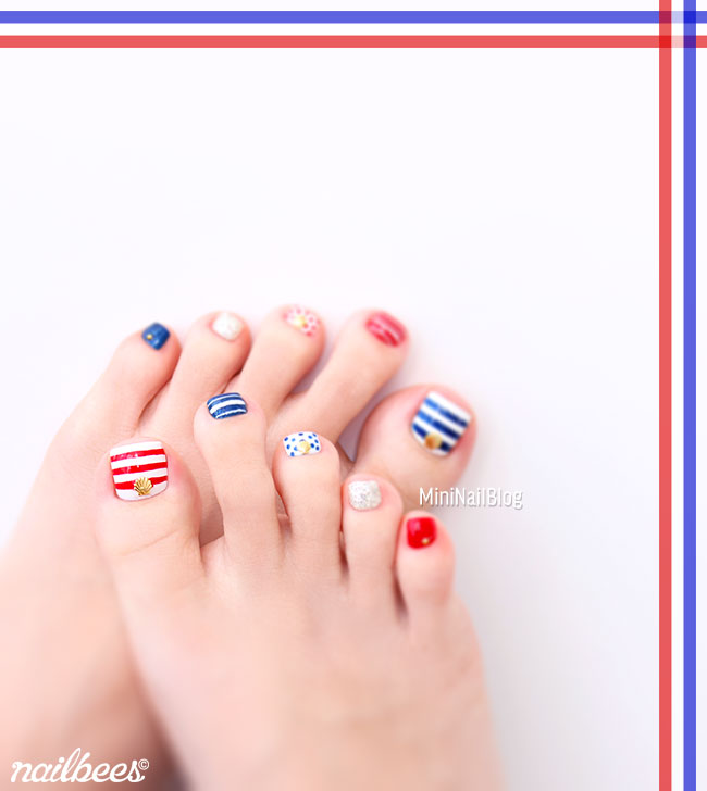 Nail Art Tutorial Nautical Nail Art Using Cuccio: Simple Tricolour Nail Art