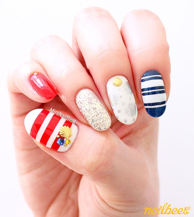 Simple Tricolour Nail Art
