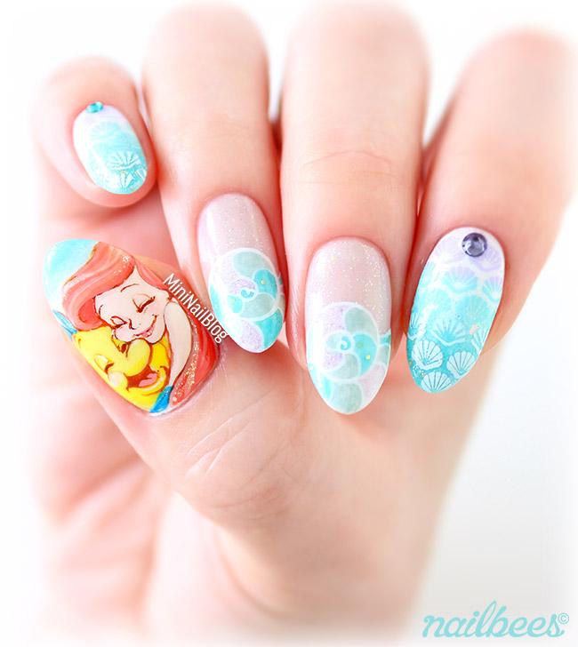 The Little Mermaid Ariel Nail Art