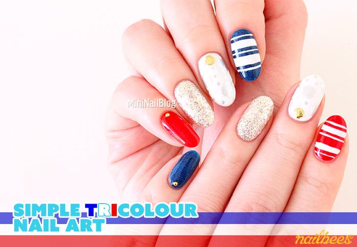 Tricolor Nail art