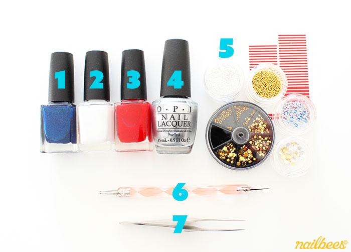 Tricolour Nail Art Equipment