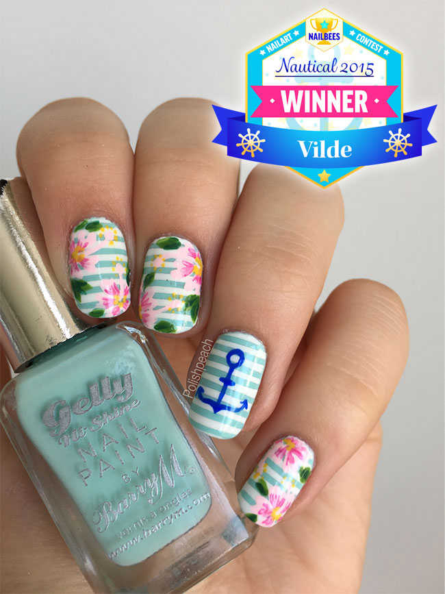 June July Nail Art Contest Winner Vilde