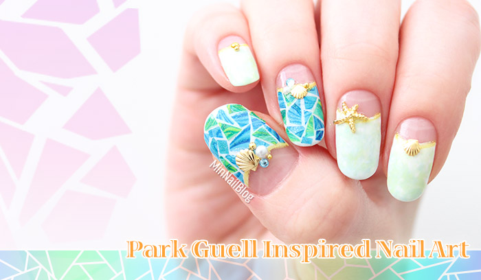 Park Guell Inspired Nail Art