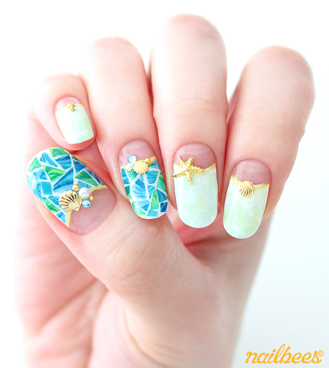 Stained Glass Nail Art: Park Guell Inspired Nail Art