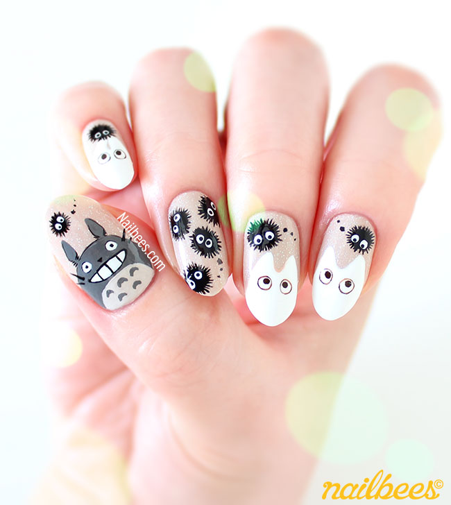 Totoro Nail Art Design