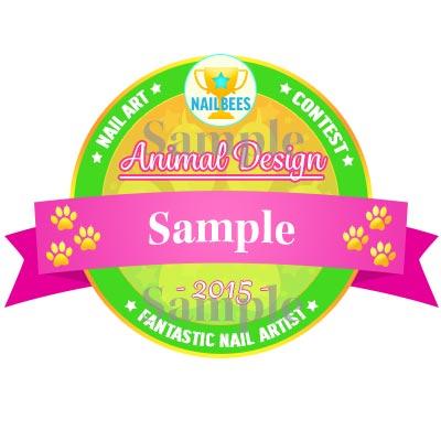 Animal Nail Art Contest Badge Sample