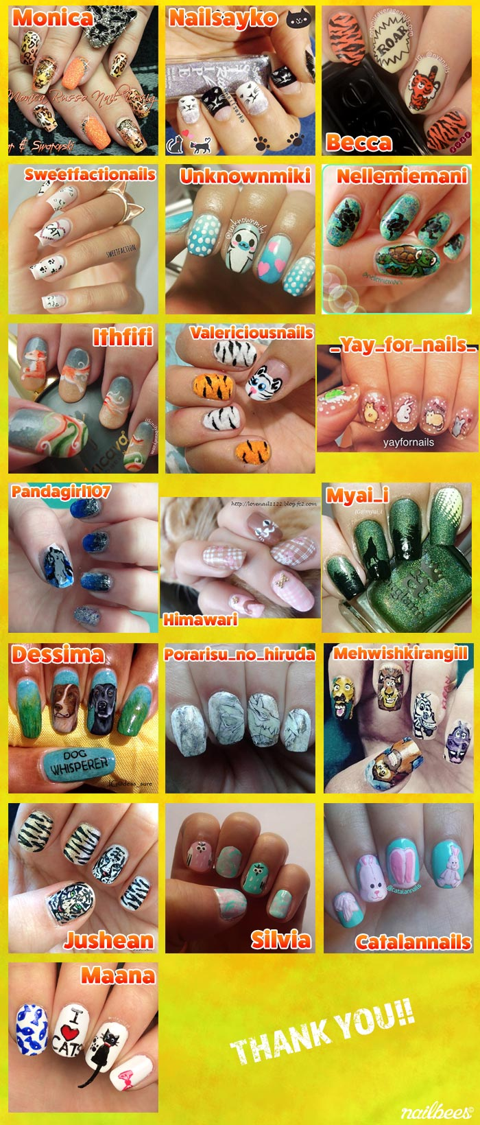 Animal Nail Art Contest Collage