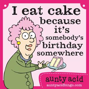 Aunty Acid Birthday Cake