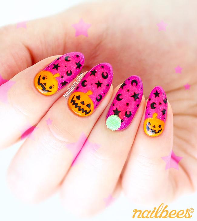 Halloween Sugar Ball Nails | nailbees
