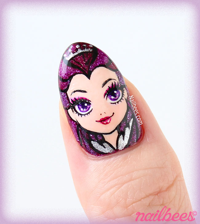 Ever After High Raven Queen Nails