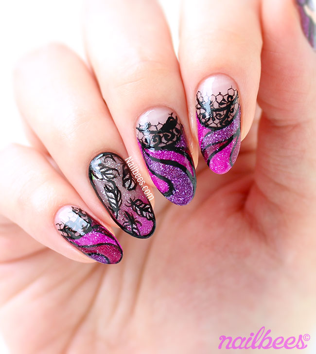 Raven Queen Inspired Nail Art Video | nailbees