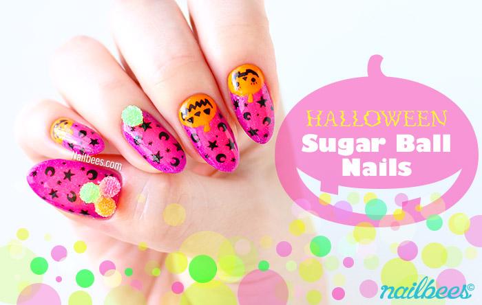 Halloween Sugar Ball Nails