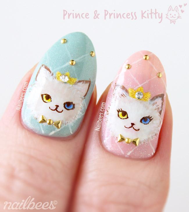Prince Princess Kitty Nail Art
