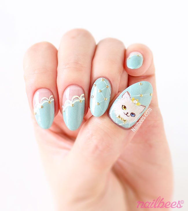 Ragdoll Cat Nail Art - Cat Princess Nail Art Nailbees