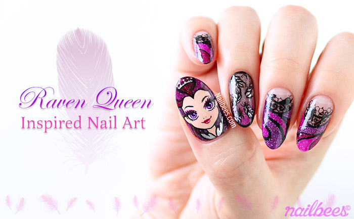 Raven Queen Inspired Nail Art Video Nailbees
