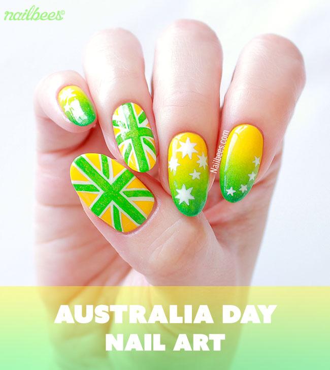 Australia Day Nail Art 2016