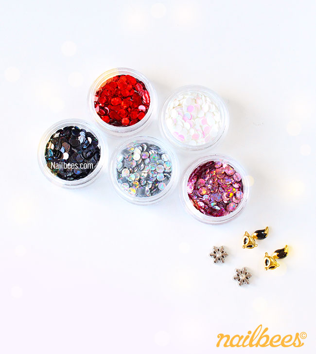 Glitter Circles and Charms