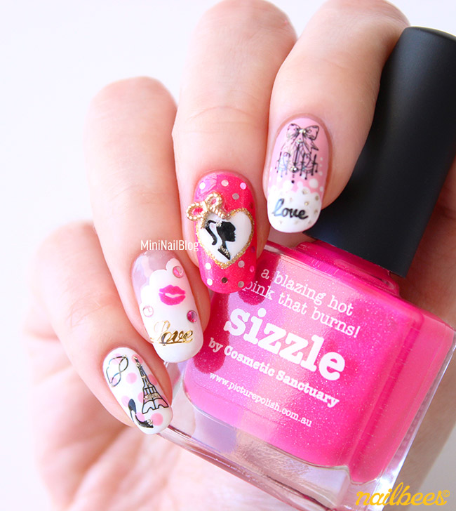 Barbie-Nail-Art-Design