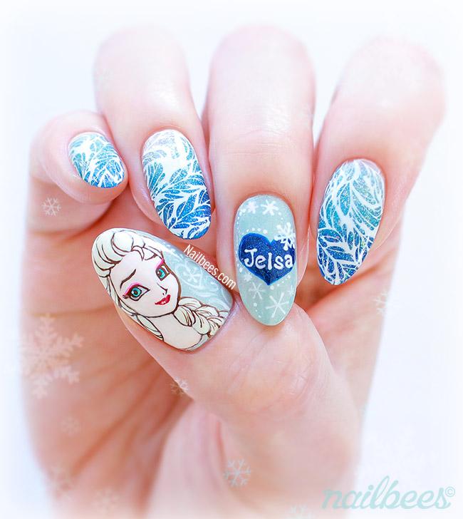 Elsa Nail Art