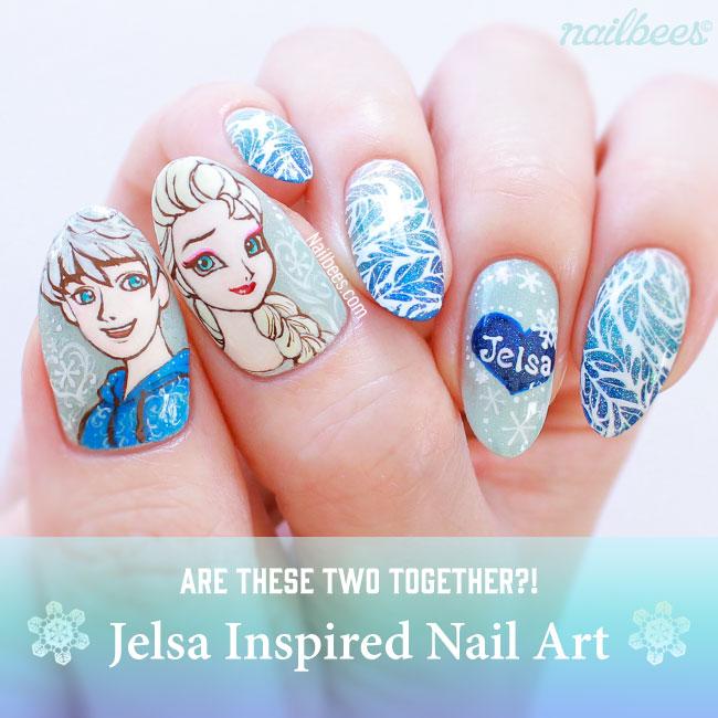 Jelsa Inspired Nail Art