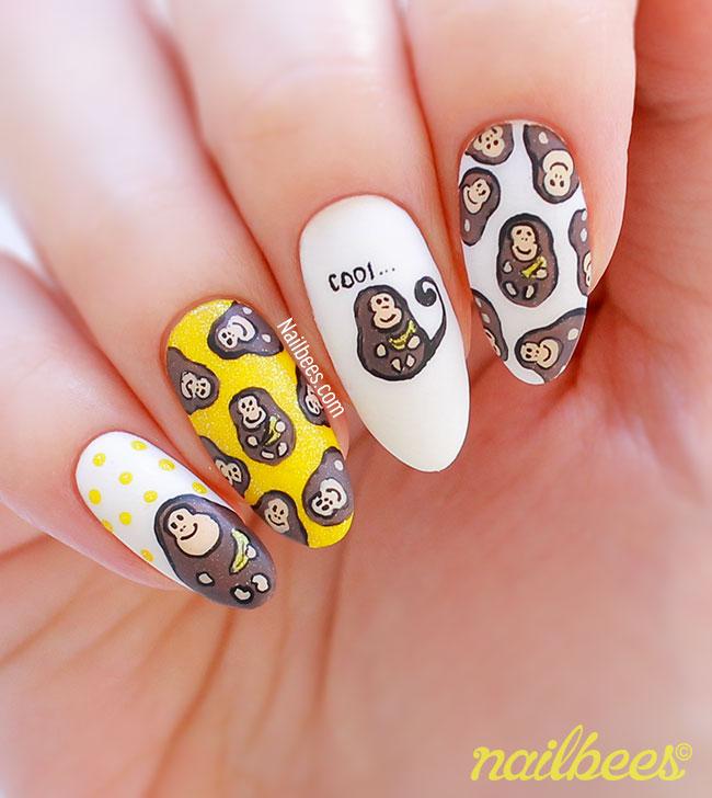 Monkey Nail Art Design