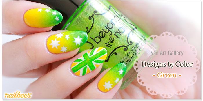 Green Nail Designs Title