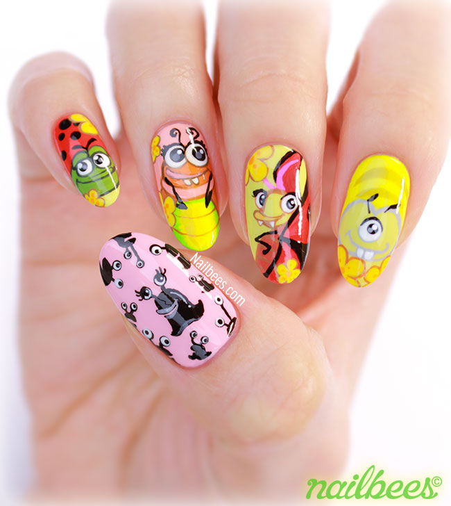 Best Fiends Character Nail Art