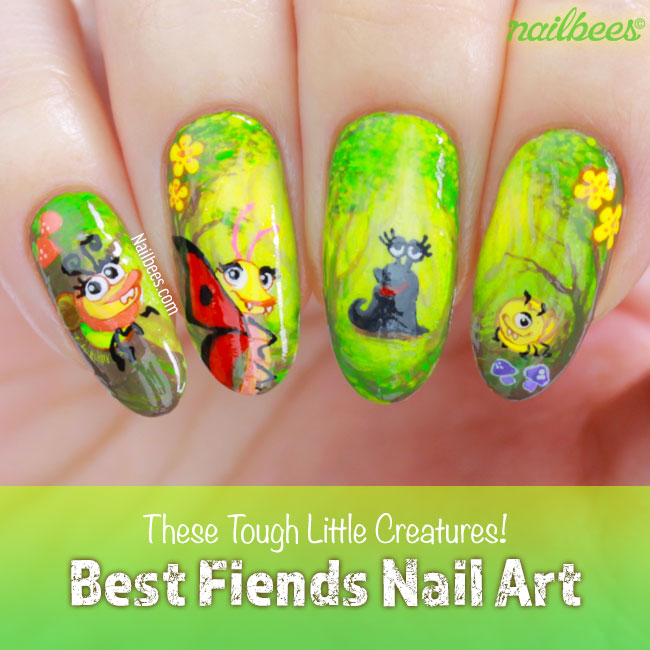 Best Fiends Nail Art