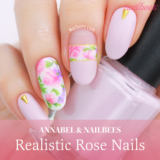 Realistic Rose Nail Art