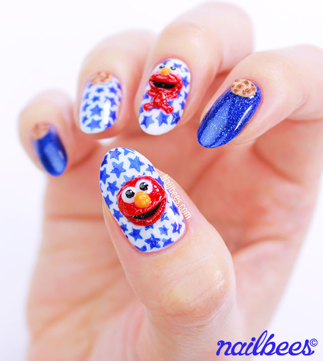 Elmo Nail Art 3D