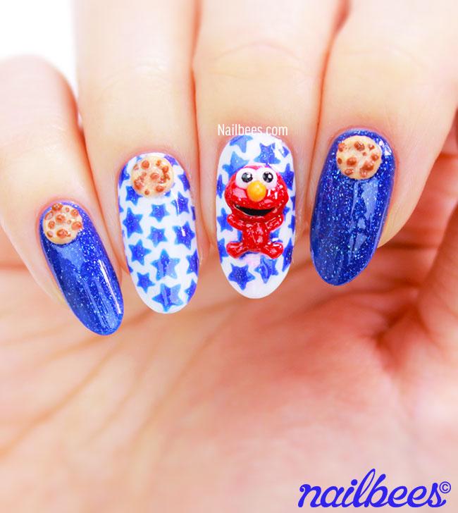 Elmo Nail Art