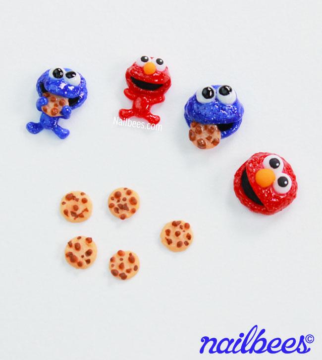 Sesame Street 3D Nails