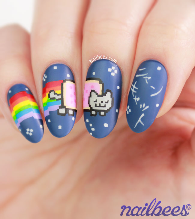 Nyan Cat Nails Japanese