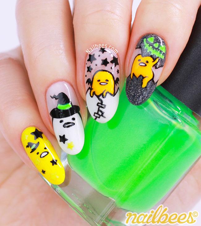 Gudetama nails