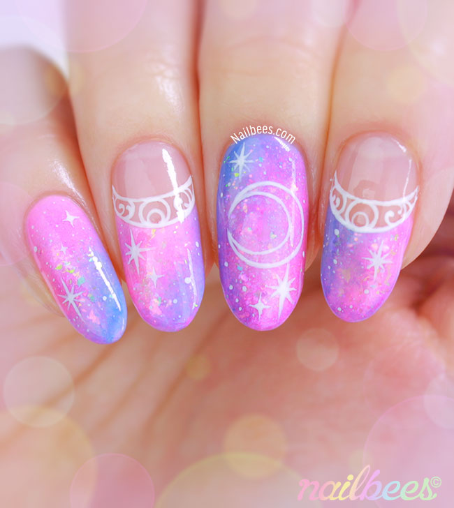 Sailor Moon Nail Design