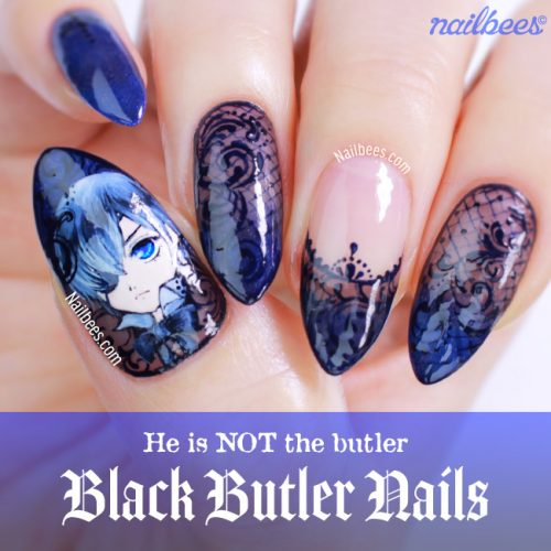 Black Butler Nail Art